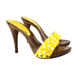 Lady  Clogs  Pois Yellow