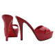 RED LEATHER SANDALS WITH RED SOLE SIZE UP TO 42