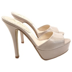 BEIGE GENUINE LEATHER SANDALS SIZE UP TO 42
