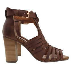 GLADIATOR SANDALS IN COLOUR LEATHER