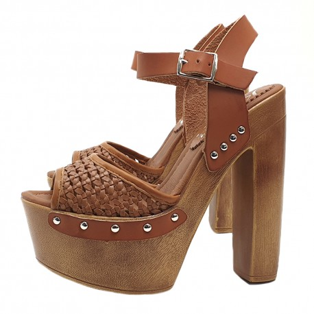 HEEL CLOGS IN LEATHER