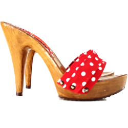 RED POLKA DOT CLOGS