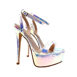 VERY HIGH STILETTO MULTICOLOR SNAKE EFFECT