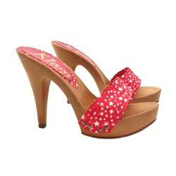 CHRISTMAS EDITION STAR CLOGS HEEL 11