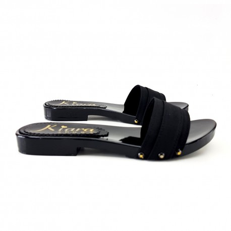 CLOGS LOW BLACK-MADE IN ITALY