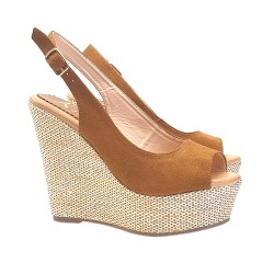 WEDGE SANDALS BROWN COLOUR