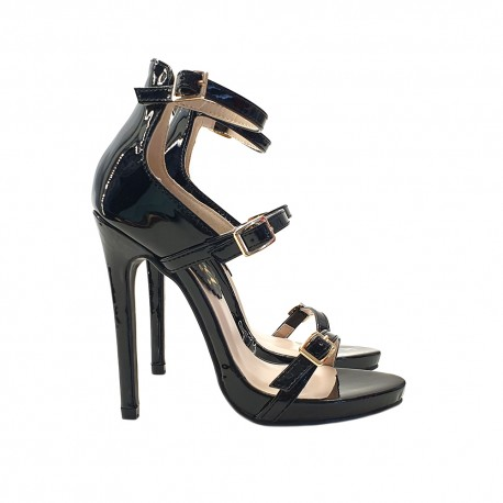 SEXY SANDALS IN PATENT LEATHER HEEL 12
