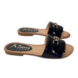 WOMEN'S JEWEL SANDALS WITH FAUX LEATHER BAND