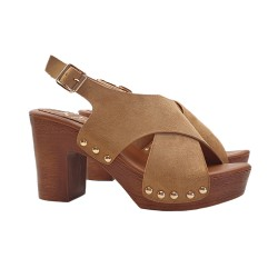 COMFORTABLE SANDALS 9 CM HEEL ADJUSTABLE STRAP