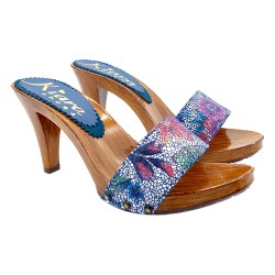 BLUE CLOGS PICASSO STYLE HEEL 9