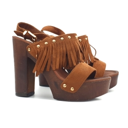 CLOGS WITH FRINGES LAST PAIR - DISCOUNTED