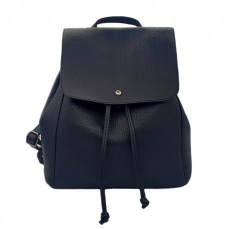 BLUE SYNTHETIC LEATHER BACKPACK