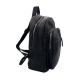 BLACK SYNTHETIC LEATHER BACKPACK UNISEX
