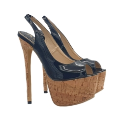 BLACK HIGH STILETTO IN CORK SEXY SIZE UP TO 44